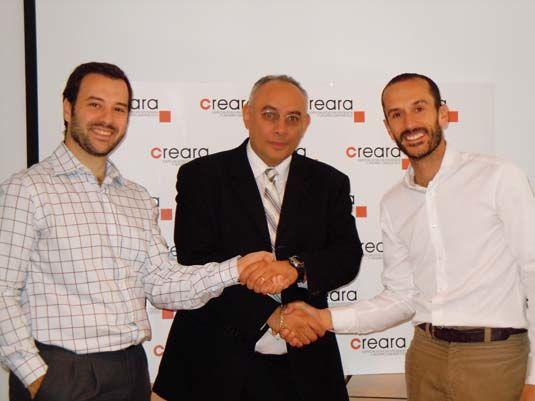 De izquierda a derecha, Rodrigo Morell, Sam Gouda y Darío Pérez, socios de <span class=